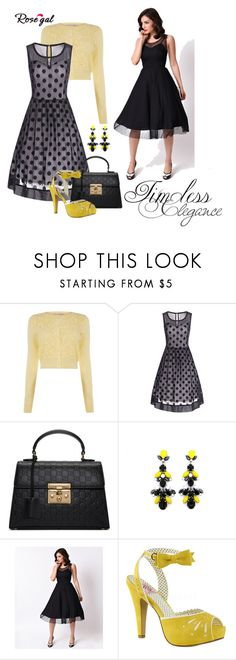 """""""Untitled #565"""" by quicherz ❤ liked on Polyvore featuring Gucci, Pinup Couture and plus size dresses"""