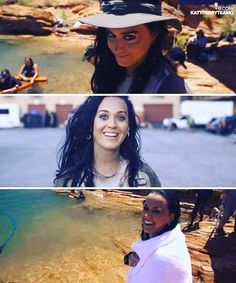 Katy behind the scenes on her video RISE!