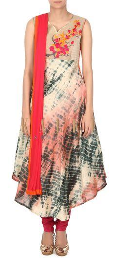 Buy this Cream shaded kurti batik print only on Kalki