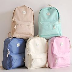 Students canvas backpack Coupon code cutekawaii for 10% off