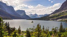 Wild Goose Island on Saint Mary Lake Glacier National Park MT [OC][42882412] #reddit