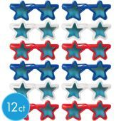 Red, White, and Blue Patriotic Star Sunglasses #4ofjuly #partyfavors
