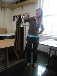 Group one- Suzanne shows folded stool.