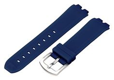 AMPM24 Solid Navy Blue Divers Silicone Ss Replacement Watch Strap / Band – Fits the Pebble Steel / Moto 360