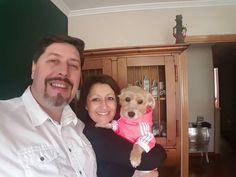 Hoy nos vamos con la pequeña Lisy a su revision del veterinario!!! #anabelycarlos #somostres #unanuevaetapa