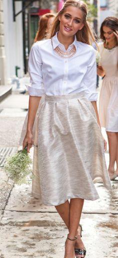 pretty metallic skirt http://rstyle.me/n/vn2vzr9te