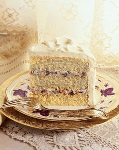 """the REAL """"Lady Baltimore Cake"""". With drunken figs, raisins and walnut filling."""
