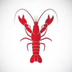 Vector image of an lobster design