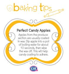 Make Perfect Candy Apples Baking Secrets, Baking Tips, Baking Hacks, Apple Recipes, Fall Recipes, Holiday Recipes, Candy Recipes, Dessert Recipes, Food Hacks