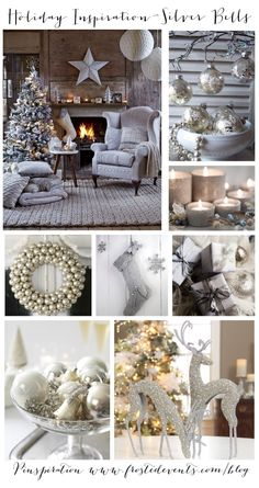 Holiday Inspiration- Silver Bells  Christmas ideas for decorating your tree, home decor, crafts, recipes, gift wrapping....  #christmas #holiday #silver