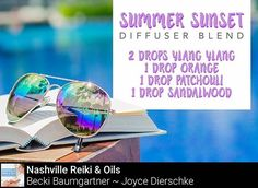 Nothing says summer like a beautiful sunset and this diffuser recipe is the perfect companion…. -2 drops of ylang ylang⠀ -1 drop of orange⠀ -1 drop of patchouli...⠀ -1 drop of sandalwood essential oil  Questions? Let me know! #Summer #essentialoils #doterra #NashvilleReiki