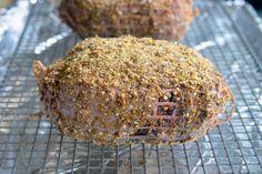 Slow roasted Dukkah crusted top round roast