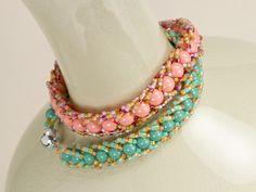 Free Ideas: Artbeads.com - Bari Bracelets  flat spiral rope bracelet w video