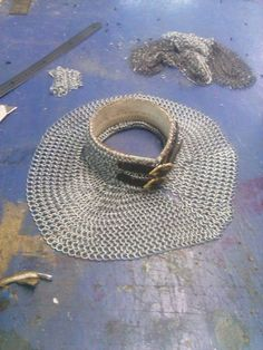 save the neck Chainmail Armor, Larp Armor, Renaissance Costume, Medieval Costume, Foam Armor, Armours, Chivalry, Knights Templar, Chain Mail