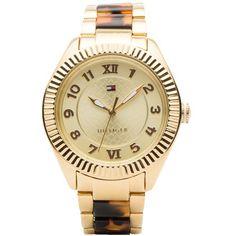 Glamouröse Armbanduhr 199,00 € <3 Hier kaufen: http://www.stylefruits.de/armbanduhr-mit-gold-tommy-hilfiger/p4754042 #gold #TommyHilfiger #Schmuck