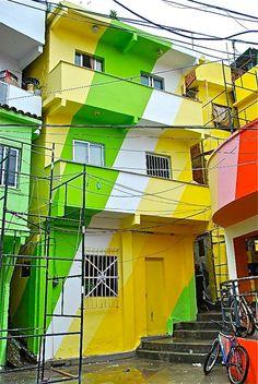rio de janeiro street art | Favela Painting, Rio De Janeiro - unurth | street art