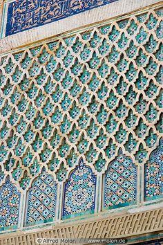 13 Wall decoration in Islamic pattern - Get the look with the Moroccan Arches Allover Wall Stencil from Royal Design Studio Moroccan Design, Moroccan Decor, Moroccan Style, Moroccan Interiors, Moroccan Bedroom, Moroccan Pattern, Architecture Design Concept, Architecture Details, Islamic Architecture