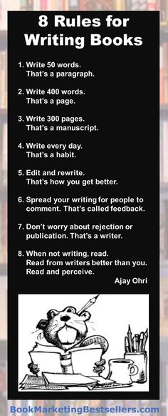 These rules or observations about writing are worth noting. Any beginning writer should take them to heart. Any experience writer should read them again to remind them where they may have fallen down. #writing #books