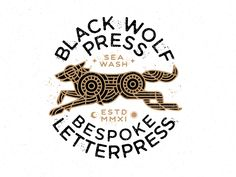 Black Wolf Press logo by Brian Steely