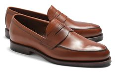 Brooks Brothers Brown Leather Penny Loafers Men D Low Vamp Moc Toe Mens Fashion Shoes, Men S Shoes, Men's Fashion, Classic Fashion, Fashion Trends, Loafer Shoes, Loafers Men, Sock Shoes, Shoe Boots