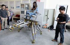 Iron Man robot for rescue missions is rideable by a full grown human