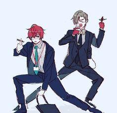 The perfect team Shot Put, Lgbt, Rap Battle, Boy Art, Mystic Messenger, Anime Figures, Cool Cartoons, Manga, Anime Guys