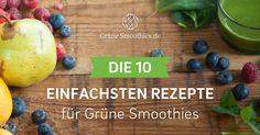 Grüne Smoothies aus nur 3 bis 5 Zutaten. Zubereitung in 5 Minuten. Gesund und lecker. Jetzt Rezepte-PDF zuschicken lassen und sofort ausprobieren.