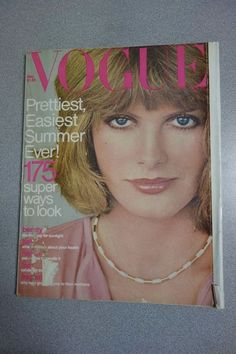 vintage Vogue Magazine May 1976 Rene Russo cover Francisco Scavullo