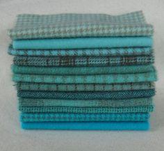 Blue Wool Fabric