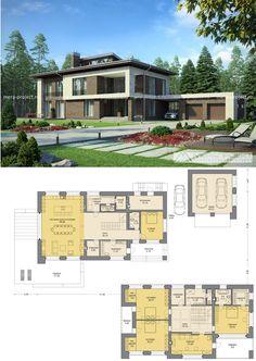 Modern cottage with a lucarne / Современный дом с люкарной - проект М288