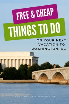 Visiting Washington, DC soon? If so, you may be amazed that there are many affordable ways to have fun in this expensive city. Travel to DC on a budget with the cheap or free things to do in Washington, DC.