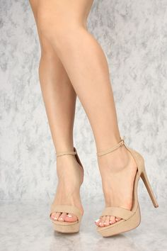 Rock these platform heels with whatever outfit you have in mind. The feature includes a bold color w Hot High Heels, Platform High Heels, High Heels Stilettos, High Heel Boots, Womens High Heels, Stiletto Heels, Shoes Heels, Nude Heels, Lace Up Heels