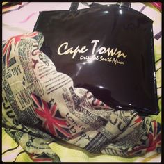 When 2 world's collide #LoveUKscarf found right here #Lovecapetown♥ bag (new)