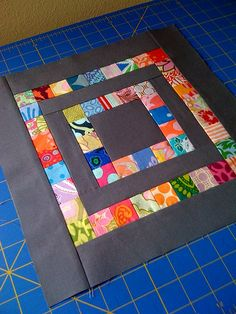 Little Miss Shabby Scrapbuster Block - ISQ Bee June & Nittany Block Party August 2010 Patchwork Quilt Patterns, Scrappy Quilts, Easy Quilts, Small Quilts, Mini Quilts, Patch Quilt, Quilt Blocks, Quilting Projects, Quilting Designs