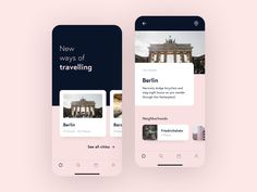 Travel App Concept designed by Drod. Connect with them on Dribbble; Mobile App Design, Mobile Ui, Wireframe, Design Thinking, Motion Design, Design Ios, Interface Design, Best Travel Apps, App Design Inspiration