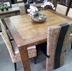 mesa jantar quadrada peroba rosa madeira demolição