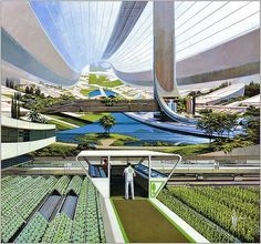 Space Colony | orbiting space colony - Syd Mead