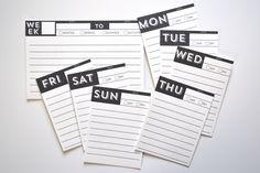 Días de la semana para rellenar (imprimible gratis) // Days of the Week POCKET PAGES™ free printables | me & my BIG ideas ...