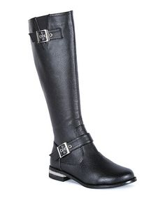 Take a look at this Black Taylor Buckle Boot by Ssh-oes on #zulily today!