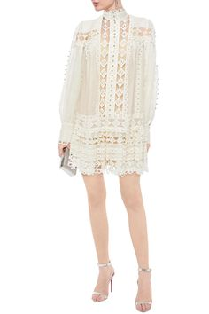 White Studded broderie anglaise cotton and gauze mini dress   Sale up to 70% off   THE OUTNET   ZIMMERMANN   THE OUTNET Dress Sale, Dresses For Sale, Coat Dress, Jacket Dress, Ladies Day Dresses, Summer Dresses, Beachwear Fashion, Stylish Sunglasses, Popular Dresses