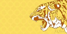 Tiger - 2014 [digital drawing]   More Artwork on MederMade.wordpress.com - Portfolio: KendraMeder.wordpress.com