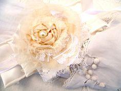 Boho Chic Flower Bracelet. Tattered Shabby by ProvencalMarket