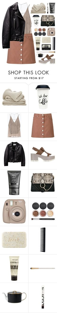 """quietly parting"" by martosaur ❤ liked on Polyvore featuring Zara, Miss Selfridge, Marni, NARS Cosmetics, Chloé, Bare Escentuals, Fresh, GHD, Aesop and Eve Lom"