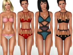 Colorful and stylish swimwear set by ShakeProductions - Sims 3 Downloads CC Caboodle