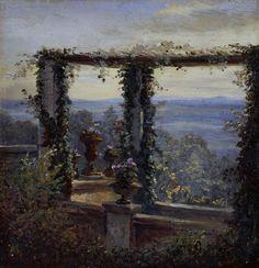 Ausblick in Hosterwitz Carl Gustav Carus (1852)