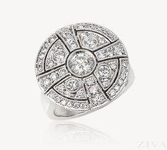 Antique Style Cross Diamond Ring