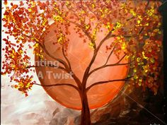 Harvest Moon (You choose) - Mason, OH Painting Class - Painting with a Twist