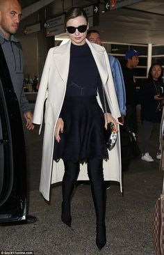 Strut: She wore stirrup spandex boots by Balenciaga that gave the appearance of tight legg...