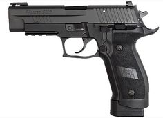 SIG P226 9mm Tactical Operations (TACOPS) edition with a 20 round mag. As adopted by many Special Forces around the world.