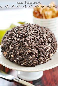 Peanut Butter Crunch Cheeseball | www.somethingswanky.com